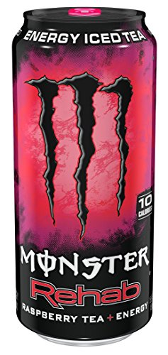 Monster Rehab, Raspberry Tea + Energy, 15.5 Ounce (Pack of 24) (Monster Energy Red compare prices)