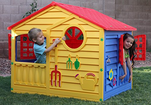 Bright Green House Pal Play Happy Fun House Bright Green Blue Red Toys Games Outdoor