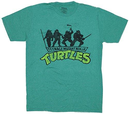 Teenage Mutant Ninja Turtles TMNT Group Shadow T-Shirt