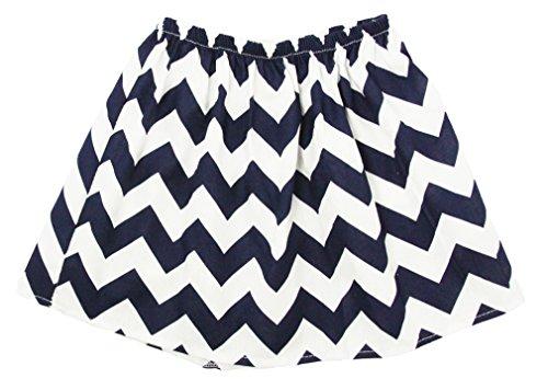 Wholesale Princess Navy Chevron Cotton Skirt Fits 4-6 Years