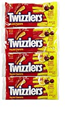 Twizzlers Filled (Licorice) Twists Sweet & Sour Cherry Kick Citrus Punch Low Fat Snack 11 Oz /Pack
