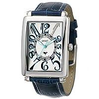 [ミッシェルジョルダン]michel Jurdain 腕時計 スポーツ ダイヤモンド レザー ホワイトxブルー メンズ SG3000-5 メンズ
