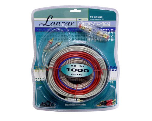 Lanzar Contaq Lq102Ps 10 Gauge 1000 Watt Amplifier Car Amp Wiring Kit
