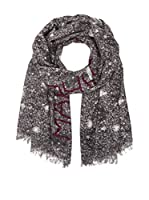 Marc by Marc Jacobs Bufanda Sequin Silk Wool (Gris / Negro)