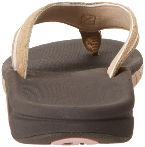 Reef Women's Leather Slap 3 Flip Flop,Sand,7 M US