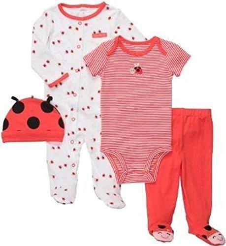 carters-bekleidungsset-56-62-baby-marienkafer-4-teilig-schlafanzug-mutze-body-hose-3-monate