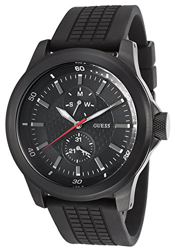 Guess Men Watch Rev black W12656G1 guess guess flsup3 sup12 black