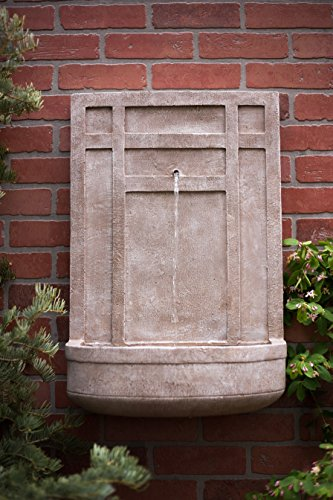 The Sicily - Outdoor Wall Fountain in Parchment Beige - Water Feature for Outdoor Living Space and Garden Enhancement (Italian Wall Fountain compare prices)