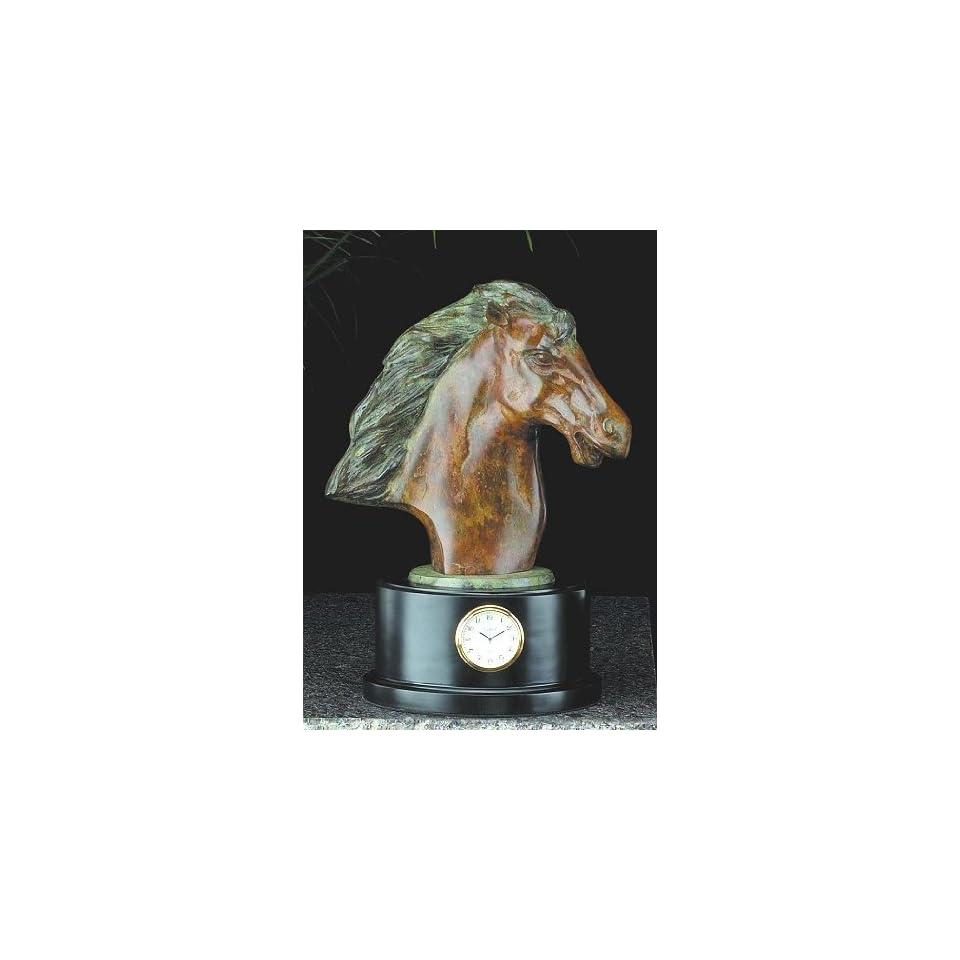 Horse Head Clock, Brass, RQ225