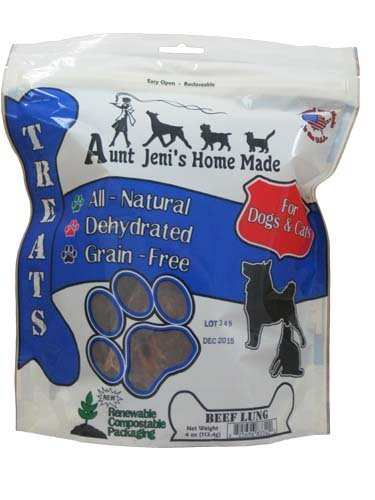 Aunt Jeni's Home Made Dehydrated Beef Lung treats for Pets (Dehydrated Beef Lung compare prices)