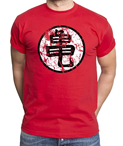 Goku-Sign-Camiseta-de-hombre-Dragon-Master-Son-Ball-Vegeta-Turtle-Roshi-Db-Farbe2RojoGre2L