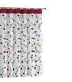 gardenlightess シャワーカーテン 間仕切り 防水 防カビ 目隠し用 リング付属 120×200cm 取付簡単 フラワー