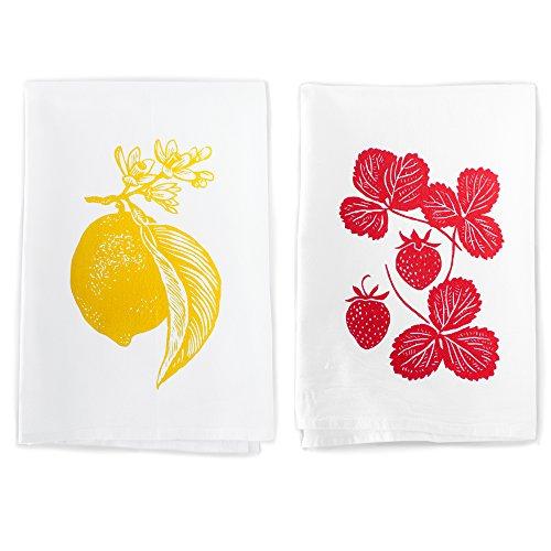 rigel-stuhmiller-lemon-and-strawberry-garden-kitchen-set-of-2-screenprinted-flour-sack-100-cotton-di