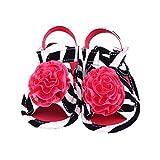 etrack-online beb� Infant Toddler flor suave soled antideslizante cuna sandalias Zebra Talla:0-6 meses