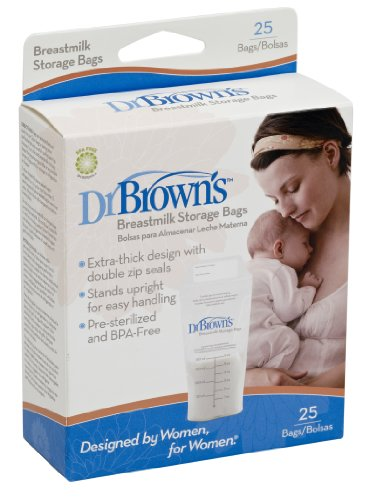 Dr. Brown's Breastmilk Storage Bags, 25 Count