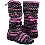 MLB San Francisco Giants Women's Jacquard Knit Boots - Pink/Black (9/10) at Amazon.com