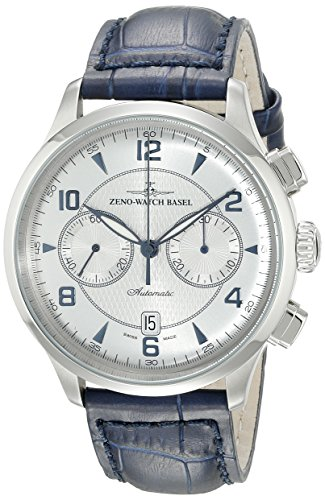 Zeno-Mens-6302BVD-G3-Retro-Tre-Silver-Chronograph-Dial-Watch