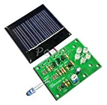 Night Light Solar Cell Charge 3 x AA Battery Re-charges Electronic Circuit Kit : FA1004