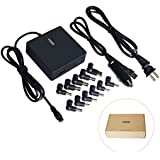 ZOZO 90W 12V DC Car+AC Wall Universal Laptop Power Adapter Charger w/10W USB Port+Cord for Asus IBM Lenovo Sony HP Acer Dell Fujitsu MSI, Samsung iPhone iPad Nexus HTC Blackberry Tablet and other 5V device