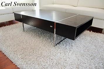 DESIGN COUCHTISCH Tisch N-111 schwarz Chrom Carl Svensson