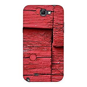 Red Kil Wood Back Case Cover for Galaxy Note 2