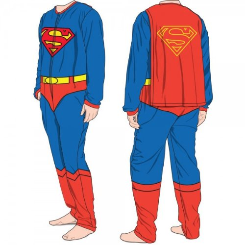 Details for Superman Belted & Caped Union Suit from Bioworld