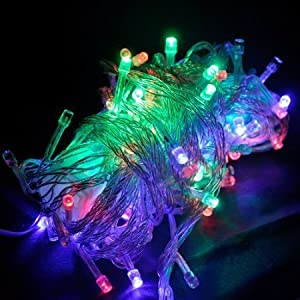 10M 100 LED White Fairy String Lights Waterproof, Ideal for Christmas, Halloween, Home & Garden outdoor decorative   Valutazione del cliente