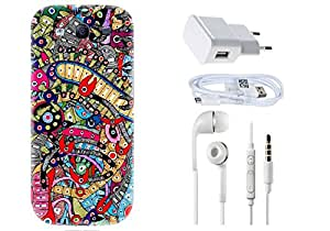 Spygen SAMSUNG GALAXY S3 Case Combo of Premium Quality Designer Printed 3D Lightweight Slim Matte Finish Hard Case Back Cover + Charger Adapter + High Speed Data Cable + Premium Quality Handfree