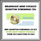BMV Quantum Subliminal CD Set- 4 SUBLIMINAL CDs - Trance / Trancework CD Collection with Brainwave Entrainment Technology & NLP (4 CDs: Ultra Deep Trance, Shaman/Shamanism Shamanic Aid, Mystic Visionary Seer, Meditation Aid)