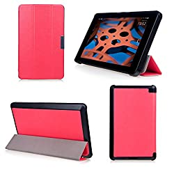 Bear Motion for Fire HD 6 Tablet - Premium Ultra Slim Case with Stand for Kindle Fire HD 6 Tablet (Oct, 2014 Release) - Pink