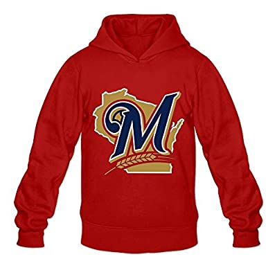 Milwaukee Brewers Hoodies For Mens 100% Organic Cotton Red]
