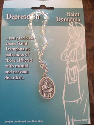 One Decade ROSARY BEADS - DEPRESSION - Saint Dymphna - w/ Prayer Card GIFT