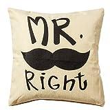 Pillowcase Covers, U'artlines Pillow Case Decorative Cushion Cover Pillowcase for Sofa Cotton Linen Pillow Cover(18