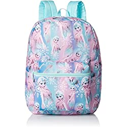 Disney Little Girls Frozen Elsa Print Backpack, Blue, One Size