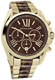 Michael Kors - Mid-Size Golden Stainless Steel and Tortoise Bradshaw Chronograph Watch - MK5696