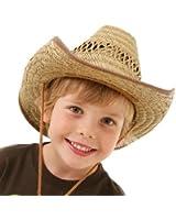 Kids Straw Cowboy Stetson Sun Hat 54/56 cms Ref: SC15