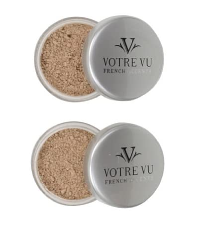 Votre Vu Belle Poudre HD Sheer Face Finish Powder, Medium, 2-Pack As You See