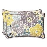 Pillow Perfect Outdoor Full Bloom Rectangular Throw Pillow, Set of 2