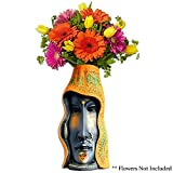 Terracotta Flower Vase / Indian Handicraft Home Decor / Fancy African Lady Face