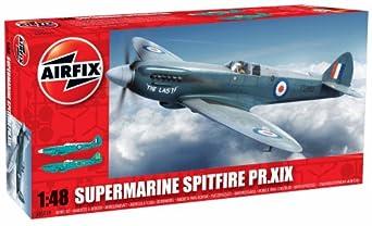 Airfix Supermarine Spitfire PRXIX Airplane Building Kit, 1:48 Scale