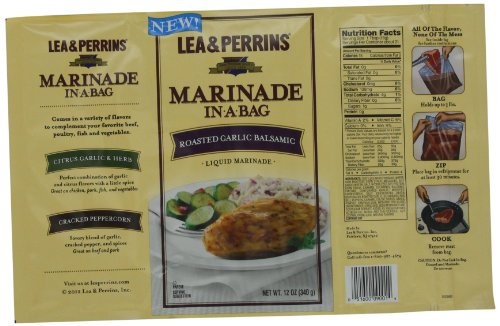 Lea & Perrins Marinade In-A-Bag, Roasted Garlic Balsamic, 12 Ounce (Pack of 10) (Low Sodium Stir Fry Sauce compare prices)