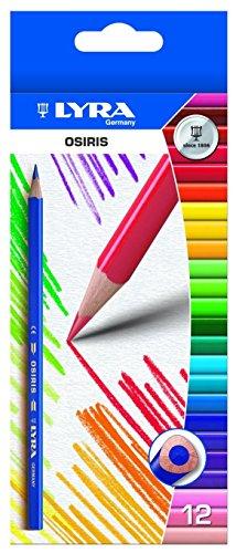LYRA 2531240 Osiris Tri Agua Caso cepillo de K24 24 lápices de colores, 1 pincel [Importado de Alemania]