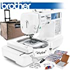 Brother LB-6800PRW Project Runway Computerized Sewing Embroidery Machine w/ USB Port and Grand Slam Package Includes 64 Embroidery Threads with Snap Spools + Prewound Bobbins + Cap Hoop + Stabilizer + 15