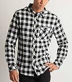 (バレッタ) Valletta ネルチェックシャツ 長袖 起毛 あたたかい腰巻き 肩掛け メンズ カジュアル ストリート アメカジ Mサイズ 1ブロックホワイト