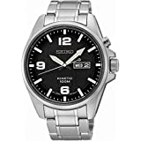 Seiko Gents StainLess Steel Kinetic Day/Date Sports Watch