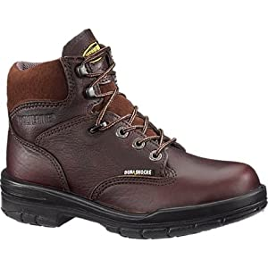 "Wolverine W03968 Closeout Women's DuraShocks Electrical Hazard Steel-Toe 6"" Work Boot - Dark Brown 5 1/2 M"