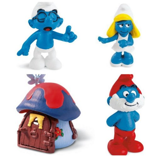 Buy Low Price Bundles of Fun Smurf Figures Play Time Cottage Bundle of 4 Toys with * (B0050RF1OI)