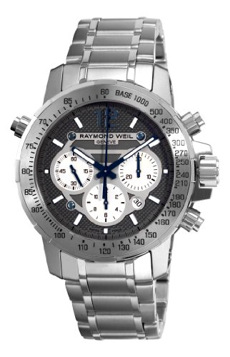 raymond-weil-hommes-de-montre-automatique-avec-cadran-gris-affichage-chronographe-et-bracelet-en-aci