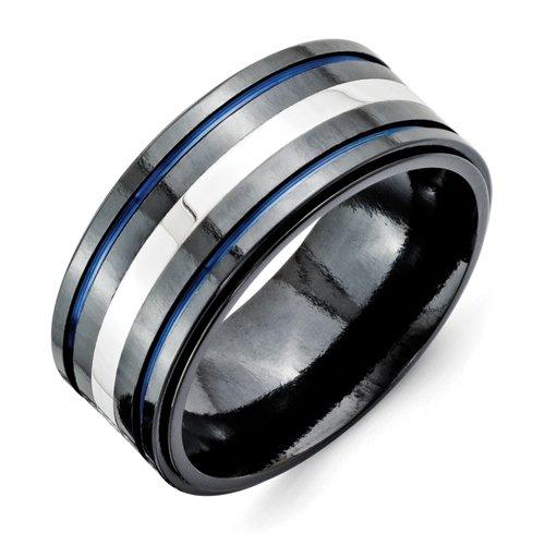 10mm Mens Wedding Bands 9 Perfect Purchase Titanium Black Ti