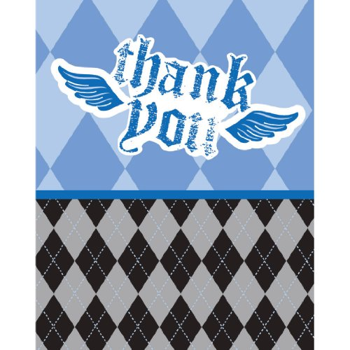 Creative Converting Rebel Birthday Thank You Notes, 8 Count